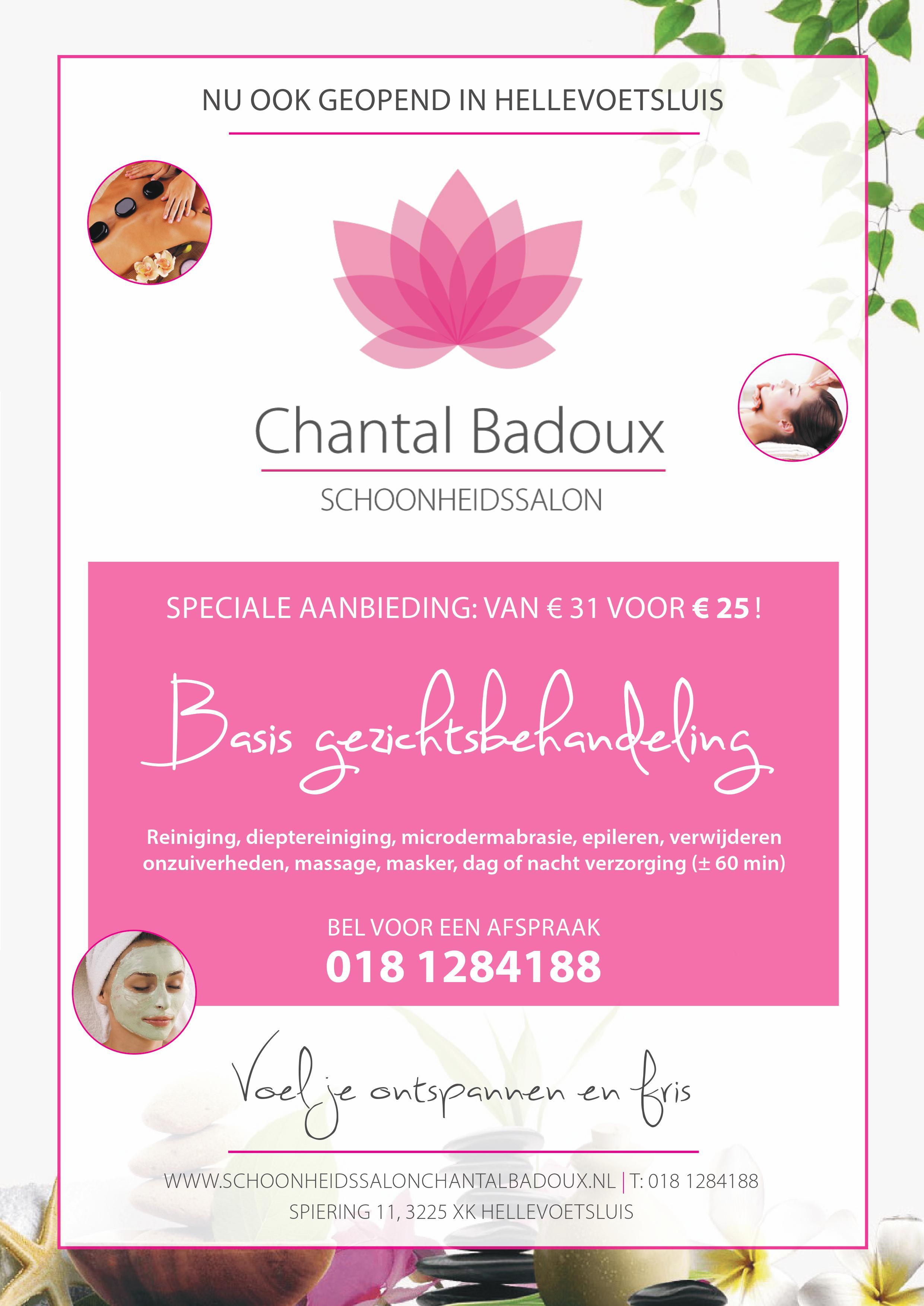 Chantal Badoux Schoonheidssalon actie